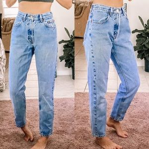 Vintage old navy light wash distressed mom jeans